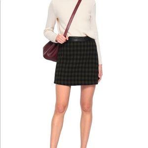 A.L.C Krisa Checked leather trim mini skirt